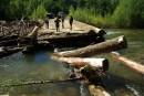 Мост смыло
