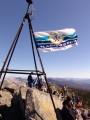 Флаг на вершине. Гора Пидан. Шкотовский район.