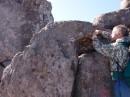 Камень птенец по пути на гору Пидан. Шкотовский район.