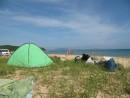 голубое небо, зеленая палатка...