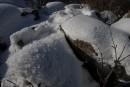 Необычная структура снега.