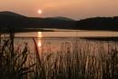 Закат на озере (Ольгинский р-н, п. Веселый Яр)