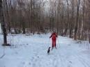 """03.Котенок """"Бархат"""" идет с нами на лыжню."""
