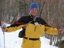 """06.Котенок """"Бархат"""" устал идти за нами по лыжне."""