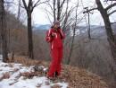 """07.Видовая площадка на лыжне. Вид на г.Пидан и горнолыжные склоны """"Пидан Сихотэ""""."""