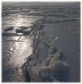 Лед (пляж г.Фокино)