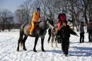 Катание на конях. Конеферма. Подножье горы Дунькин Пуп. Партизанский район.