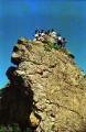 """На скальнике """"Дракон"""". Под хвостом у дракона - пещера. Говорят, стоянка первобытного человека."""