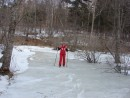 03.По замерзшему ручью к водопаду.