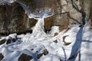 Кавцовские водопады зимой
