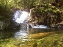 """водопад, а в заводи камень. Дети называли его """"китенок""""."""