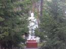 Памятник среди леревьев