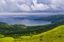 Обогнал грозу, правда не надолго. Вид на бухту Астафьева и острова Безымянные и Входные.