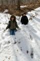 В некоторых местах снега ещё по пояс.