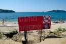 Андреевка. Хасанский район. Вот такие таблички появились на местном пляже после трагических событий.