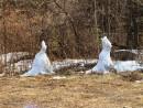 две снегурочки встречают весну