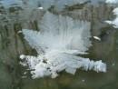 Кристаллы льда на реке Адими.