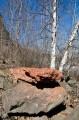 Куски лавы разбросаны повсеместно.