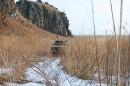 Джип на фоне скал горы Голубиный утёс