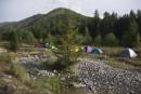Лагерь. Термальный источник Кхуцин. Тернейский район.