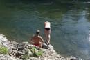 Купание в реке. Реки и пороги. Кема. Тернейский район.