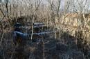 """Недостроенное придаточное укрепление форта № 9, проросшее деревьями. По дороге от базы """"Белый лебедь""""."""