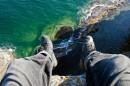 На отвесной скале. Полуостров Тобизина.