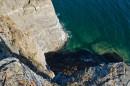 Расщелина в виде креста. Полуостров Тобизина.