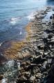 Мелководная каменистая коса, обнажающая во время отливов. Перешеек между мысом и полуостровом.