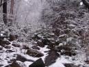 Снегопад в мае. Еламовские водопады. Лазовский район.
