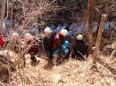 Спуск на веревках к водопаду Горбатый. Шкотовский район.