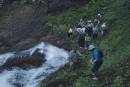 Черный шаман. вид с верху. Водопады Тернейского района. Тернейский район.