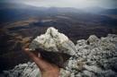 Доломит-осадочная карбонатная горная порода. Вершина сопки Брат.