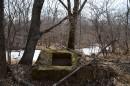 Река Воеводиха и остатки каких то укреплений.