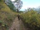 3.Подъем на хребет по старой геологической дороге.