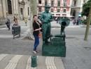 Живые статуи, бульвар Рамбла г.Барселона