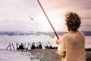 ловил рыбу.....