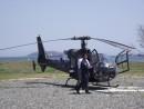 Самый лучший вид транспорта для нашего ландшафта - вертолет, а площадок на сопках у нас достаточно.