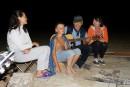 Традиционные посиделки у костра в ночь с 8 на 9 августа.