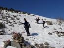 Снег на каменных осыпях. Подъем на г.Облачная 1854 м.