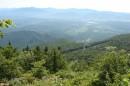 011.Вид с г.Россыпи на п.Лозовый. От п.Лозовый до вершины г.Россыпи 17 км, мы добирались 1 час.