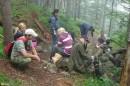 26.Встреча на маршруте. Возвращаясь с вершины, мы встретили группу студентов поднимающихся на г.Облачная.