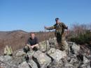 06.На вершине г.Лазаря (1287 м). В 13.00 мы вышли на вершину г.Лазаря. Подъем от брошенной машины занял у нас 3 часа.