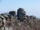 10.Скалы на хребте. Весь хребет усыпан причудливыми скалами останцами и большими скальными выходами.